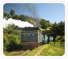 Mountain Railway Into The Tunnel, Ooty